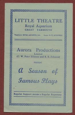 Great Yarmouth. Little Theatre. 'Why not To-night?' Margaret Welling  ed12
