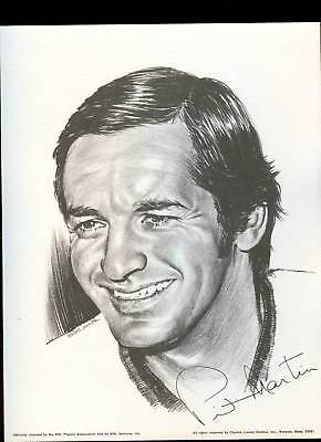 1974 Pit Martin Chicago Blackhawks Linnett Portrait