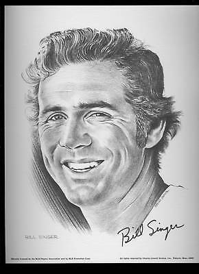 1975 Linnett Portrait Bill Singer California Angels