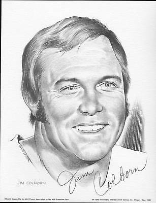 1975 Linnett Portrait Jim Colburn Milwaukee Brewers
