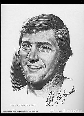 1975 Linnett Portrait Carl Yastrzemski Boston Red Sox