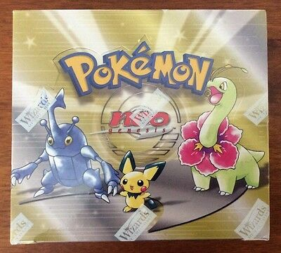 FACTORY SEALED Pokémon Trading Card Game Neo Genesis Unlimited Ed. Booster Box