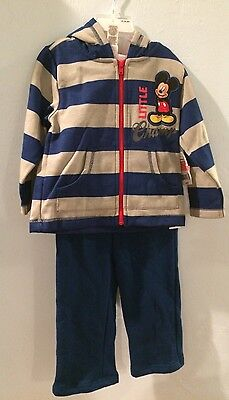 Mickey Mouse 18-24M Baby Boy Outfit Toddler Boy Blue Little Champ Disney