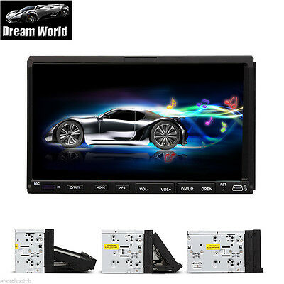 """Car In Dash Stereo Radio Double 2 Din 7"""" Car DVD CD MP3 Player Touch Screen"""