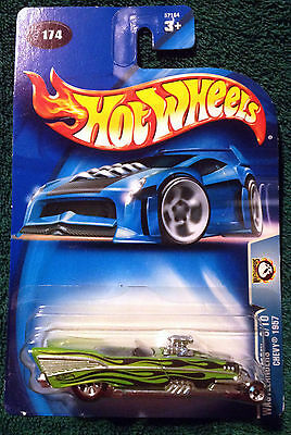 HOT WHEELS - 2003 - WASTELANDERS - CHEVY 1957 - NEW ON CARD! #174 8/10