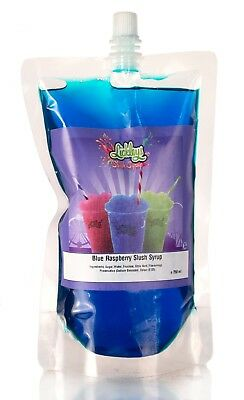 Blue Rasperry Slush Syrup x 330ml slush puppy style Pouch maker for home use