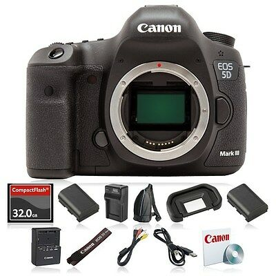 Canon EOS 5D Mark III Digital SLR Camera (Body Only) MK 3 22.3 MP DSLR - NEW -