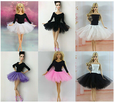 New 4 PCS Fashion Handmade Ballet Dress/Clothes/Outfit For Barbie Doll L04