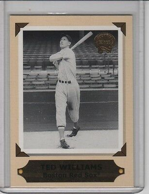 2001 FLEER GREATS OF THE GAME RETROSPECTION COLLECTION CARD 5 OF 10 TED WILLIAMS