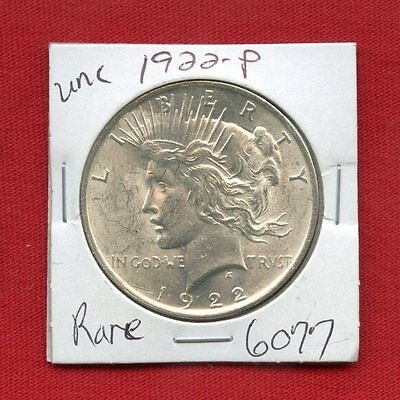 1922 PEACE US SILVER DOLLAR #6077 BRILLIANT UNCIRCULATED MS+++ MINT STATE ESTATE