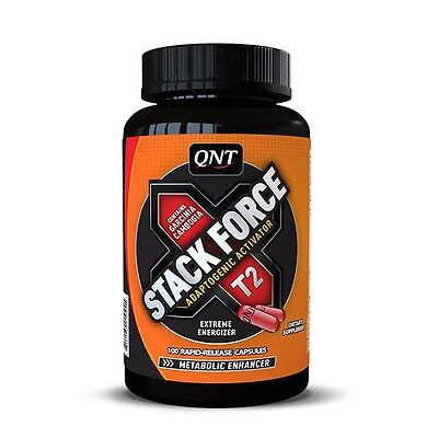 QNT STACK FORCE 100 caps. HIGH ENERGY - PRE WORKOUT - FAT BURNER