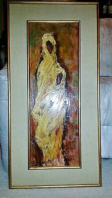 AMAZING OIL PAINTING IMPRESSIONISM MOTHER AND CHILD AFRICAN fIGURES & PORTRAITS