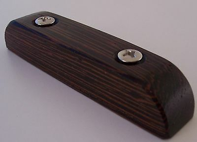EXOTIC WOOD Wenge THUMBREST For FENDER Jazz Bass or Precision P BASS GUITAR ~WOW