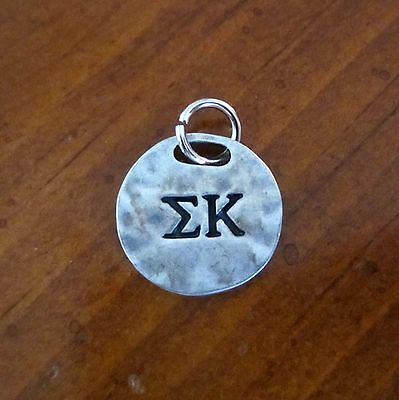 new SIGMA KAPPA Sisters Are Forever PENDANT CHARM Greek letter sorority jewelry