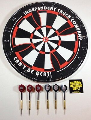 Independent truck company dart board - comes with 6 independent darts - NEW