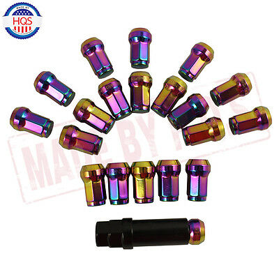 NEO Chrome 20PCS CLOSE END Heptagon STEEL JDM LUG NUTS Tuner M12x1.5 For TOYOTA