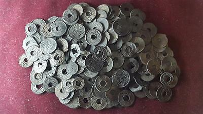Lot 250 Pieces PALEMBANG TIN PITIS SULTANATE MONEY VOC Mix Coin NICE Condition