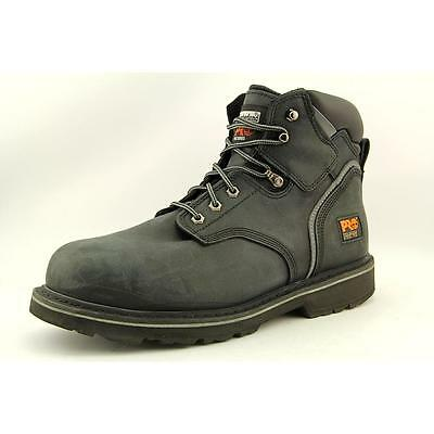"""Timberland Pit Boss 6"""" Mens Size 12 Black Boots Work Leather Work Boots Used"""