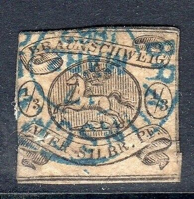 GERMANY Brunswick 1856 1/3ggr on white good used cds cancel SG 5
