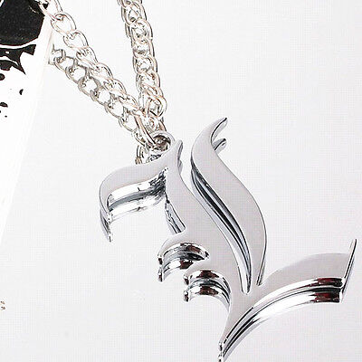 Death Note Silver letter L Lawliet Kira Cosplay Necklace Alloy Metal Pendant