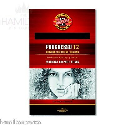 KOH-I-NOOR PROGRESSO WOODLESS GRAPHITE STICKS - 5 grades available