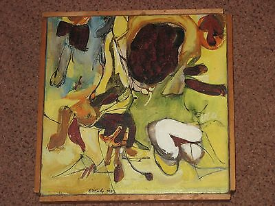 R. McCarthy, Oil/Canvas, Signed, Biomorphic, Geometric, Abstract Expressionism