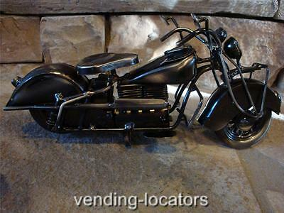 MOTORCYCLE Metal Sculpture Nickel Fabricated Art Display Harley Indian Yamaha