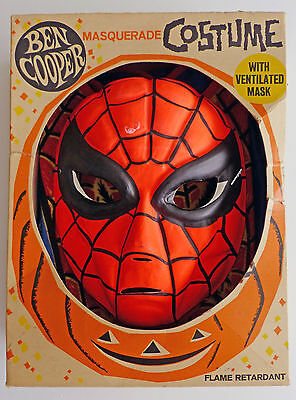 Spider-Man 1963 Ben Cooper 1st Ed. Costume Box w/ 2nd Ed. 1964 Costume and Mask