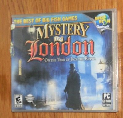 Mystery in London: On the Trail of Jack the Ripper CD Computer BIG FISH GAME