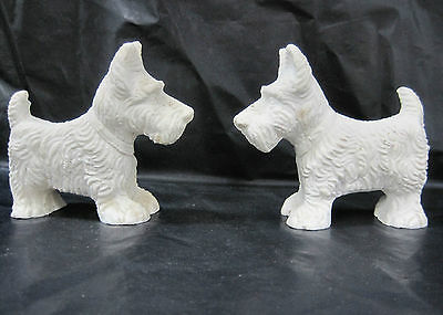 Carved Scottish Terrier Soap Stone or Bisque Scotty Dog Figurine Collectible