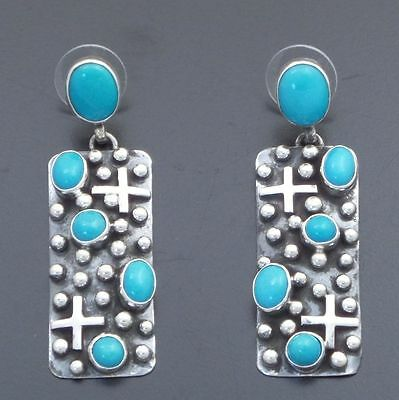 Ronnie Willie Sleeping Beauty Turquoise  Sterling Silver  Earrings
