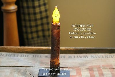 "Country 6"" - 6.5"" Battery Taper Candle - Burnt Mustard NON-TIMER"
