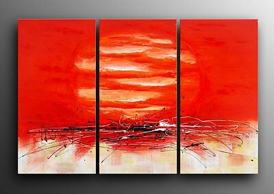 """Abstract Oil Painting 60x40""""H Canvas - STRETCHED, ready to be hung Art Deco"""