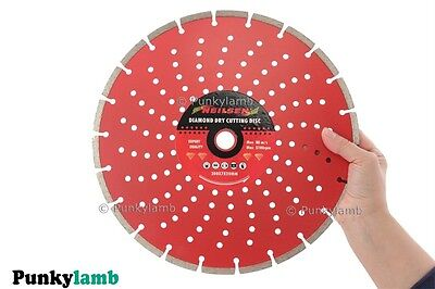 "12"" 300mm Diamond Cutting Disc Grinder Saw Blade Masonry, Hard Brick, Tiles NEW"