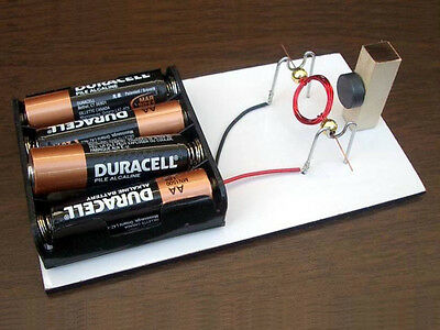DIY SIMPLE CONVENTIONAL MOTOR KIT #15 SCIENCE FAIR PROJECT ELECTRICITY MAGNETISM