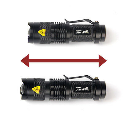 1200 Lumen UltraFire Newest CREE Q5 14500 ZOOMABLE LED Flashlight Torch