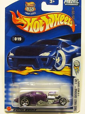 MATTEL HOT WHEELS /2003 FIRST EDITIONS 7/42 1/4 MILE COUPE COLLECTOR NO. 019