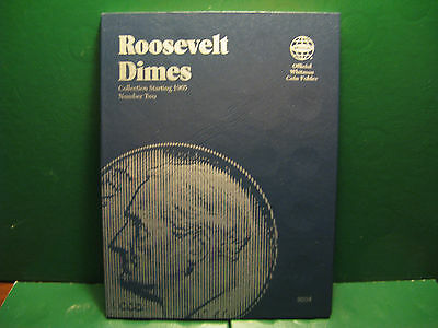 Roosevelt Dime Starting 1965 Whitman Coin Folder New (No coins)