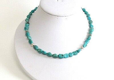 Navajo Sleeping Beauty Turquoise Sterling Silver Necklace - Tommy Singer