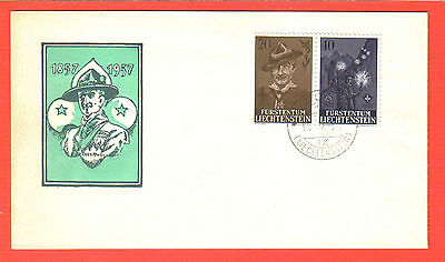 Liechtenstein FDC # 316a; Lord Badel-Powell and Scouting, 10/IX/57