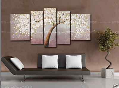 MODERN HUGE CANVAS NO FRAME HAND-PAINTED ART OIL PAINTING:FLOWER WALL DECOR