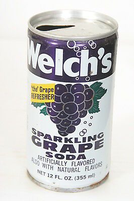 Welch's Sparkling Grape soda can 12oz C/S Pull Tab - 1/25/14