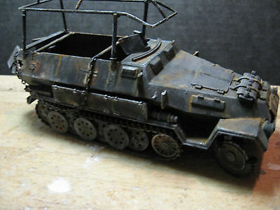 1/35 scale ww2 german halftrack (knocked out)