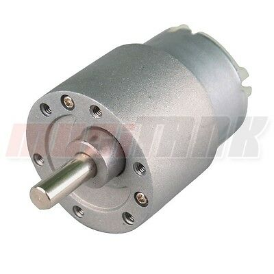 12V 30 RPM 37mm Electric Mini GearBox DC Motor High Torque Gearbox fast USA ship