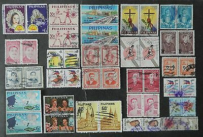 Philippines stamp pairs of used hinged.