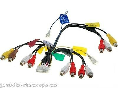 Pioneer AVIC-D3, AVIC-F700BT, AVIC-F900BT, AVIC-F910BT pre out rca loom