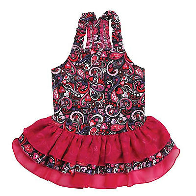 XX-SMALL RETRO PAISLEY DOG DRESS teacup yorkie chi poodle clothing XXS clothes