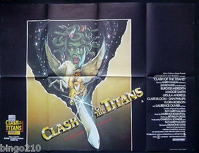 Clash Of The Titans Orig 1981 Quad Poster Ray Harryhausen Harry Hamlin Medusa