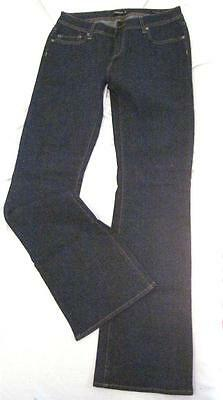 """Size 29 Inseam 33""""  Just Fabulous Bootcut Jeans Dark Blue Wash Low Rise Stretch"""