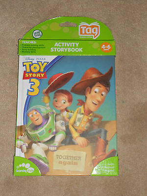 NEW, LEAP FROG TAG READING SYSTEM ACTIVITY STORYBOOK, TOY STORY 3, AGES 4-6